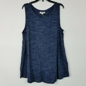 Style&CO Large Navy Space Dye Tank 6AS32